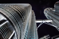 Close up view of skyscrapper Royalty Free Stock Images