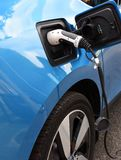 Recharging an electric car Stock Photos