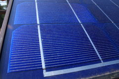 Close up view of a solar panel royalty free stock photo