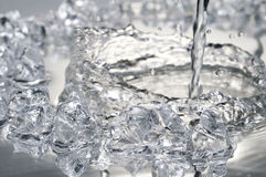 Close up view of some ice pieces Royalty Free Stock Photography