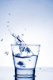 Close up view of the splash in water Royalty Free Stock Images