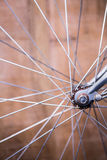 Close up view of spokes of wheel of a bike Stock Photography