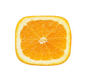 Close-up view square slice of orange Stock Photography
