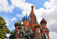 Close-up View of St. Basil's Cathedral Royalty Free Stock Photos