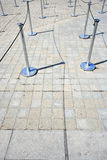 Close-Up view of Stanchions marking out queue Royalty Free Stock Photos