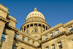 Close up view of a state capital building. Idaho state capital view of the dome looking up Royalty Free Stock Photography