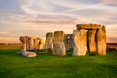 Close up view of Stonehenge monument. royalty free stock images