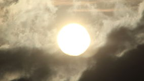 Close up view of the sun in timelapse stock video