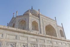 Close up view on Taj Mahal in Agra Royalty Free Stock Image