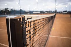Tennis Net And Post Close Up Royalty Free Stock Photos
