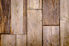 Close-up view of textured and weathered wooden tiles. Background Stock Photos