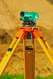 Close up view on theodolite Stock Photos