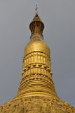 Close up view of tip of common giant stupa in pagoda in Myanmar Stock Photo