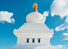 Close-up view to The Buddhist Stupa in Benalmadena town, Andalusia, Spain. royalty free stock images