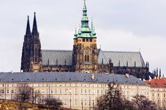 Close-up view to Cathedral of St. Vitus royalty free stock images