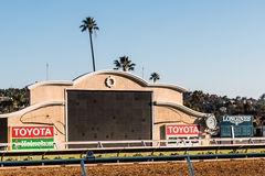Close-Up View of Tote Board at Del Mar Racetrack Royalty Free Stock Images