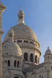 Close-up view of the towers Sacre Coeur Basilica at sunrise, Montmartre, Paris, Fr Stock Photography