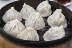Traditional Shanghai dumpling, also called xiaolongbao Royalty Free Stock Photography