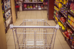 Close up view of trolley Royalty Free Stock Photo