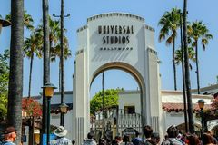 Close up view of Universal Studios Hollywood in Los Angeles. USA. stock images