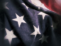 Close-up view USA flag Royalty Free Stock Photography