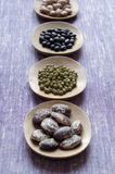 Close-up view of variety of Beans Stock Image