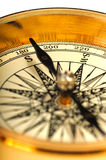Close-up view of the vintage compass Royalty Free Stock Photography