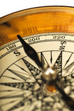 Close-up view of the vintage compass royalty free stock photos