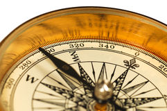 Close-up view of the vintage compass royalty free stock image