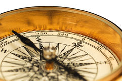 Close-up view of the vintage compass stock photos