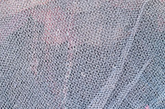 Close up view of a white fishing net Stock Photos