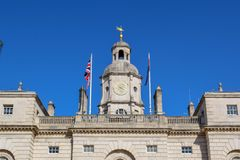 Whitehall, Royal Horse Guard Palace in London, England stock photos
