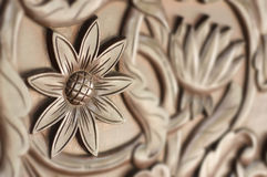 Close Up View Wood Carving Stock Photos