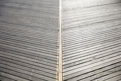 Wooden foothpath. Close up view at wooden foothpath Stock Images