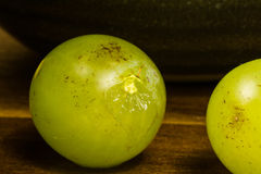 Close up view of yellow muscat colored grapes Royalty Free Stock Images