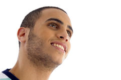 Close up view of young guy face Royalty Free Stock Photos