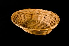 Close-up of vimini bamboo box container Royalty Free Stock Images