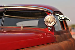 Close up of a vinatge car. Close up of a brown red old vinatge car Royalty Free Stock Photography