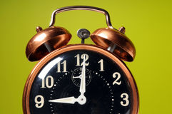 Close Up of Vintage Alarm Clock Royalty Free Stock Images