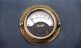 Close-up of  vintage ancient voltmeter Royalty Free Stock Photos