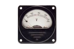 Close-up of an vintage ancient voltmeter Royalty Free Stock Photos