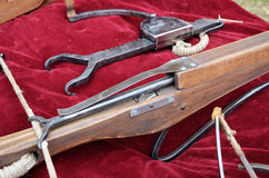 Close-up of a vintage arbalest Stock Images
