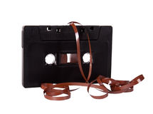 Close up of vintage audio tape cassette. Isolated Royalty Free Stock Images