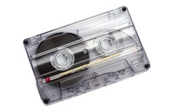Close up of vintage audio tape cassette Royalty Free Stock Images