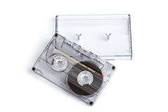Close up of vintage audio tape cassette Royalty Free Stock Photography