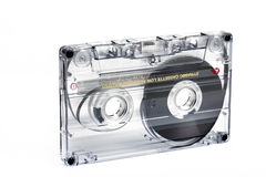 Close up of vintage audio tape cassette Stock Image