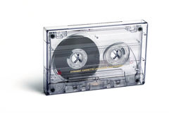 Close up of vintage audio tape cassette Royalty Free Stock Image