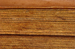 close up vintage book spines Royalty Free Stock Photo