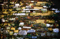Close-up vintage brick wall Royalty Free Stock Images