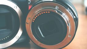 Close-up of Vintage Camera Lens Stock Photos